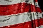 Detail US Flagge bunt